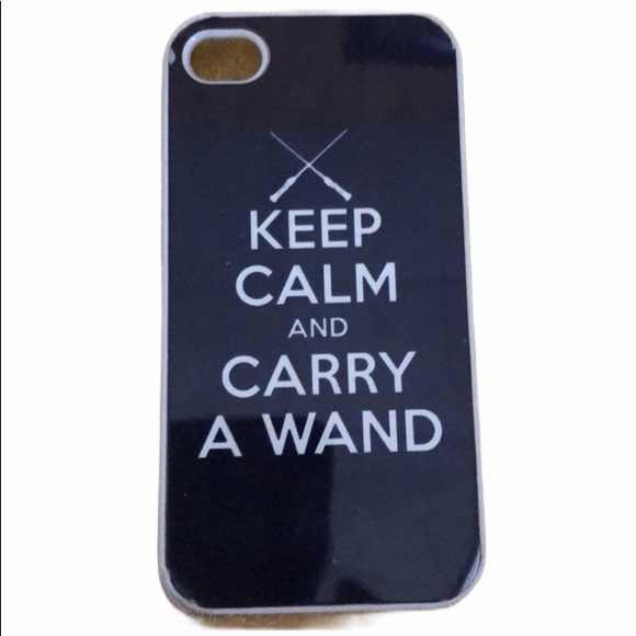 Accessories - Keep Calm Carry Wand iPhone 4 Case